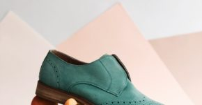 Product photograph green shoe